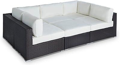 Amazon.com : Vondom Vela Sofa Central chaiselongue Ecru ...