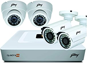 Godrej Security Solutions See Thru 1MP Without Hard Disk HD Full CCTV Camera Kit (Godrej1MP2DOME2BULLET)