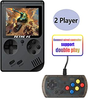 Hangyuan Retro Handheld Classic Game Console F-C System Plus Extra Joystick Video Game Consoles Built-in 168 Classic Games