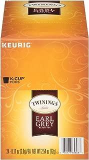 Twinings of London Earl Grey Tea K-Cups for Keurig, 24 Count (Pack of 1) - Packaging May Vary