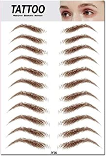 Aaiffey 4D Hair-like Authentic Eyebrows,Brown Imitation Ecological Lazy Natural Tattoo Eyebrow Stickers Waterproof for Wom...