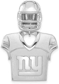 Sterling Silver Chicago Bears Jersey & Helmet Pendant