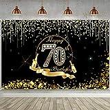 70. Geburtstag Party Dekoration, Extra Großes Schwarz Gold