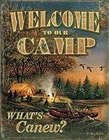 キャンプ風景のティンサインへようこそ