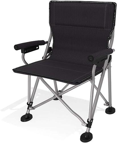Anuey Chaise De Camping Pliante avec Accoudoirs, Support Stable, Pieds Antidérapants, Randonnée, Randonnée, Chaise Longue en Tissu Oxford
