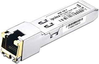 ipolex for Juniper QFX-SFP-1GE-T 1000Base-T SFP, Gigabit SFP RJ45 Copper Transceiver (CAT5e Cable, 100-Meter)