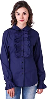 ThePirateDressing Steampunk Gothic Victorian Cosplay Costume Women's Stand-up Collar 100% Cotton Blouse Shirt