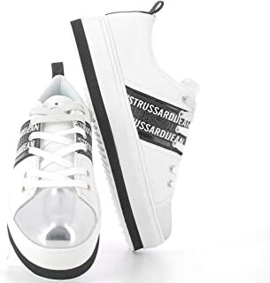 Trussardi Jeans Sneakers Donna Eco Pelle Silve