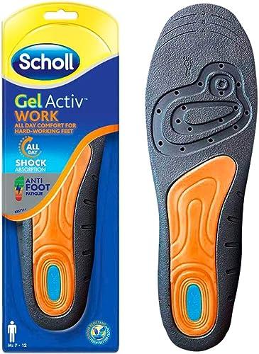 Scholl Semelles De Travail Active Gel pour hommes -7-12
