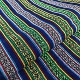 Nanmara エスニック 生地 手織り ネパール コットン 織り 厚手 リネン 幅 150cm × 100cm 民族 調 選べるデザイン マルチカバー テーブルクロス 手芸用 (No.1)