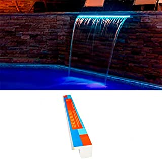 Warmpool Cascada Acrílica Empotrable LED RGB (Tira LED Sustituible) con Control Remoto y Transformador (90 cm lengüeta 12 cm)
