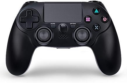 PS4 コントローラー ワイヤレス コントローラー pc スマホ用 無線 加速度/振動/重力感応/6軸機能 高耐久ボタン (PS4 PRO PC 振動機能 対応)