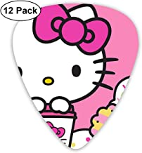 CHLING Hello Kitty with Dounts Guitar Picks, 12 Pack Colorful Guitar Gift for Guitar Bass