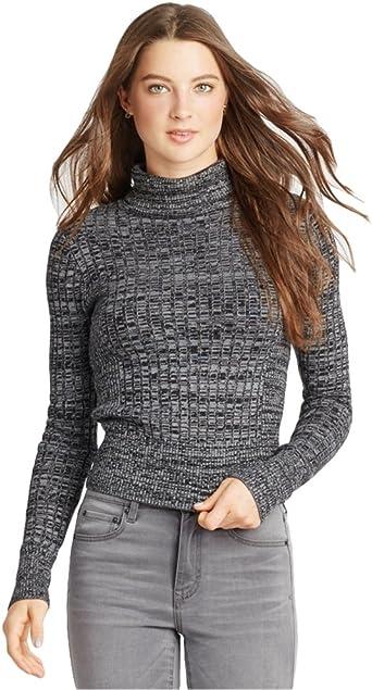 Black Aeropostale Womens Marled Bodycon Knit Sweater Large