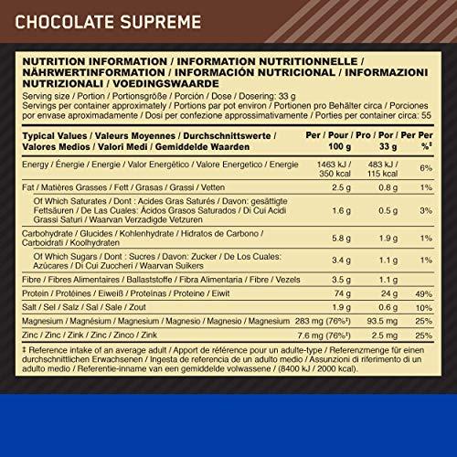 Optimum Nutrition Casein Protein Chocolate Supreme, 1er Pack (1 x 1818 g) - 8