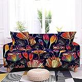 Fundas para Sofa 2 Plaza Elastica Loto Fundas para Sofa con Diseño Elegante Universal,Cubre Sofa Ajustables,Fundas Sofa Elasticas,Funda de Sofa Chaise Longue,Protector Cubierta para Sofá