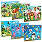 BelleStyle Wooden Jigsaw Puzzles, Jigsaw Puzzles for Kids Age 3-8 Year Old, 60 Pieces Wooden Jigsaw Puzzles Preschool Educational Learning Puzzle Toys Set for Boys and Girls 6 Pack