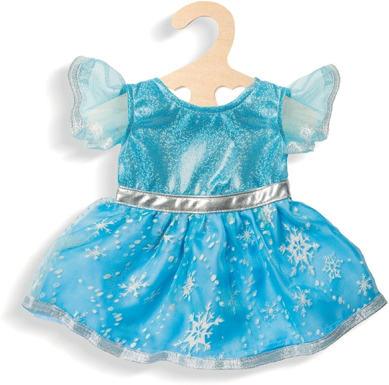 Kleid 'Eis-Prinzessin', Gr. 28-35 cm, 1 Stück