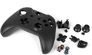 Homyl Full Housing Shell Kit for Xbox One Wireless Controller Buttons Set Replacement Parts - Black, with Front Rear Facep...