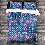 JHGFG Lecho 3 Piece Bedding Set Penguins On Skates Quilt Cover Bedroom Comforters Microfiber Sheet 2 Pillow Shams Comfy Bedspread Coverlet Home 86'' X70
