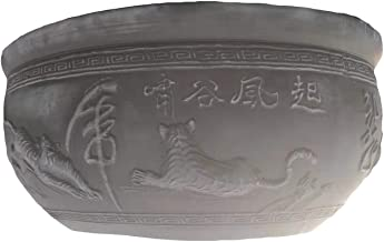 Beijing Xiao wind from the valley of old Beijing pottery fish bowl chamber breathable eco-friendly green moss can grow out of the living room balcony with outdoor patio