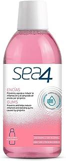 SEA4 Colutorio Encías Uso Diario. Previene el Sangrado de Encias e Inflamación por Gingivitis. Formulado con Agua de Mar.  Sin Alcohol. 0% Clorhexidina, 500ml.