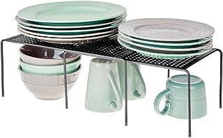mDesign étagère de Cuisine – égouttoir Pratique en métal pour Plus d'Espace de Rangement – étagère Cuisine télescopique et...