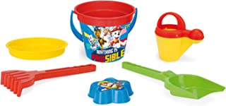 Wader 81137 Paw Patrol 6 Piece Set with Bucket, Strainer, Water Jug, Shovel, Rake and Sand Mould