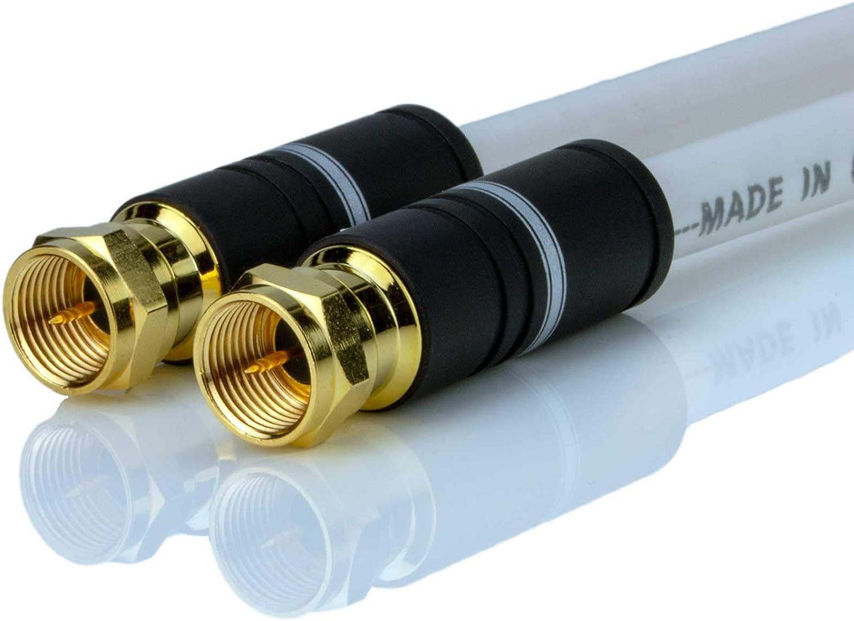 Dcsk 1 M Sat Kabel Weiß Satellitenkabel 5 Fach Abgeschirmt 125 Db 75 Ohm
