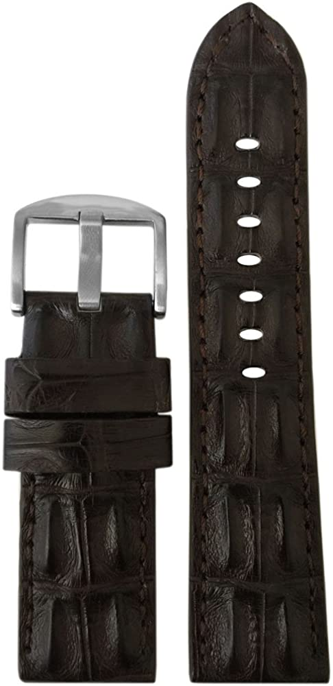 Genuine Hornback Alligator Watch Band Credence Stitching with Easy-to-use Panatime by