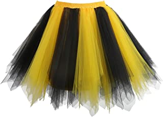 black and yellow tutu dress