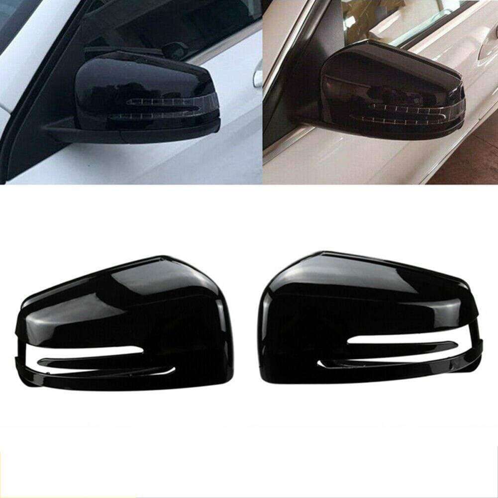 NUIOsdz Car Rearview Mirror Cover Accessories Protective Cover Side Glass Rearview Mirror Cover Trim,for Mercedes-Benz C E S GL Class W204 W212 W221 CLA GLA 2009-2013