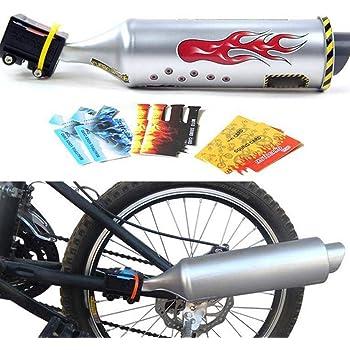 Kunststoff Motocards Kit f/ür Auspuffanlage Fahrradspeichen Sound Maker Fahrrad Turbinenrohr