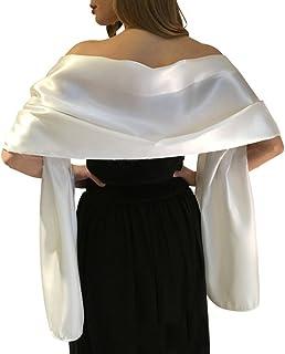 6c55918ab27 Très Chic Mailanda Écharpe Châle Étole en Satin Femme Wrap Foulard Pashmina pour  Soirée Cérémonies Fêtes