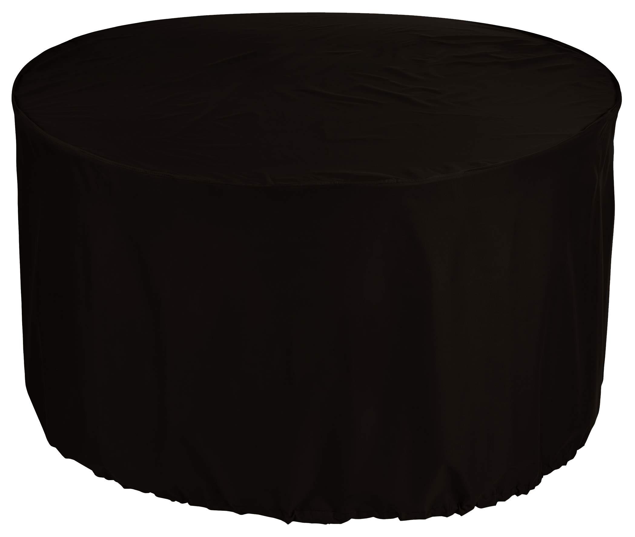 KaufPirat Premium Fundas para Mesa Redonda Ø 140x80 cm Cubierta Impermeable Funda para Mesa para Mobiliario de Exterior, Oxford Fundas para Proteger Muebles de Jardín Negro: Amazon.es: Jardín