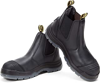 Work Boots for Men, Composite/Soft/Steel Toe Waterproof Safety Working Shoes