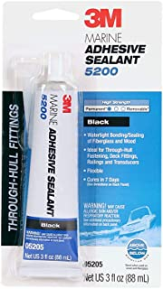 3M Marine Adhesive Sealant 5200 – Permanent Bonding and Sealing for Boats and Marine Applications – Black – 3 Ounces