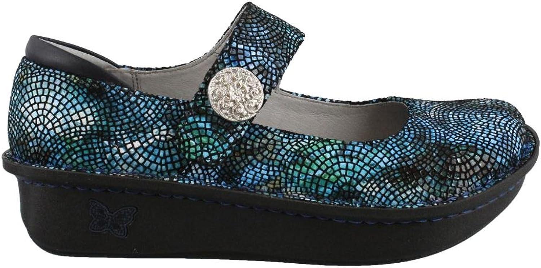 Women's Alegria, Paloma Maryjane shoes Wide Width blueE MULTI 4.1 M