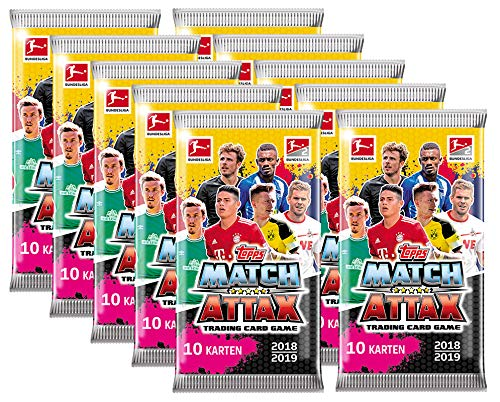 Topps Match Attax 2018//2019 Action 10 booster//110 trading cards 18//19