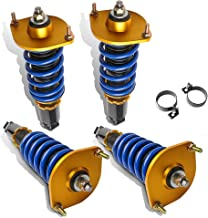 MOSTPLUS Full Coilovers Struts for Mazda Miata MX5 NA NB 1990-1997,1999-2005 Adjustable Height Shock Absorber Assembly (Set of 4)