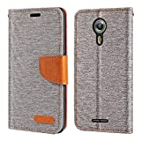 Alcatel One Touch Flash 2 Case, Oxford Leather Wallet Case