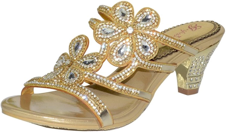 Doris Fashion gs-T014 Women's Glitter Rhinestones Sandals Evening Wedding Heels