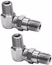 (2) 90 Degree Hydraulic Hose Swivel Elbows 21855 for Meyer Snow Plow Snowplow Blade