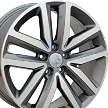 18x7.5 Wheel Fits Volkswagen - VW Jetta Style Gunmetal Rim w/Mach'd Face, Hollander 69941 - SET