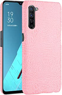 zl one Compatible with/Replacement for Phone Case OPPO K7 5G Crocodile Pattern PU Leather Case Back Cover (Pink)