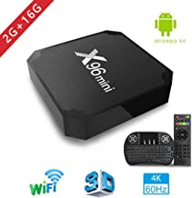TV Box Android 7.1 - Aoxun X96MINI Smart TV Box Amlogic Quad Core, 2GB RAM & 16GB ROM, 4K*2K UHD H.265, HDMI, USB*2, 2.4GHz WiFi, Web TV Box, Android Set-Top Box, + 2 en 1 Ratón y Teclado