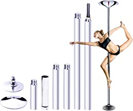"""RAYLON Spinning and Static Dancing Pole, 45mm Diameter Portable Stripper Pole, 89""""-115"""" Adjustable Height, Fitness Exercis..."""