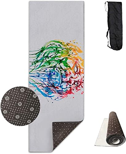 Tapis de gymnastique antidérapant Lion Graffiti de luxe, tapis de yoga, exercices d'aérobic et pilates
