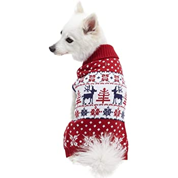 Blueberry Pet 10+ Patterns Christmas Clothes Christmas Family Interlock Sweaters for Dogs, Children and Parents