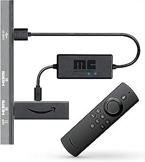 Fire TV Stick Lite avec télécommande vocale Alexa ǀ Lite + câble d'alimentation USB Mission (plus besoin d'utiliser d'adap...